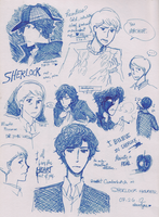 SHERLOCK - sketches by AlexaClyne