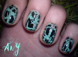 Crackle Nail Design by AnyRainbow