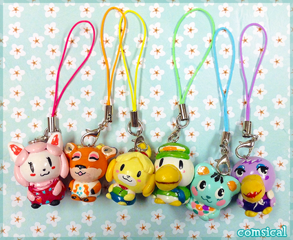 Animal Crossing Clay Charms by Comsical