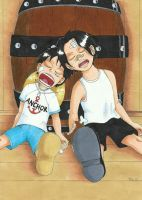 Ace and Luffy Sleeping by Sanjoh