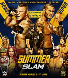 Summerslam 2016 custom poster by THE-MFSTER-DESIGNS