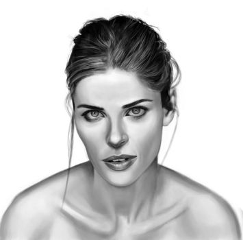 Amanda Peet sketch 3 by tonyob