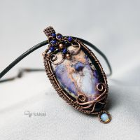 One of a kind pendant wire pendant with Jasper by artual