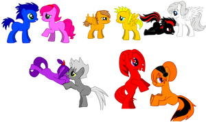 My top 5 Sonic Couples (In pony style) by donamorteboo