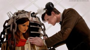 Doctor and Oswin by Masandro