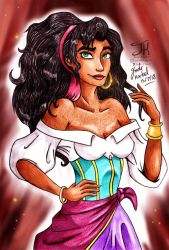 Esmeralda Pencil Drawing by Jade-Viper
