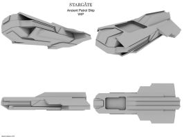 Ancient Patrol Ship WIP 1 by Mallacore