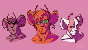 Biker Mice From Mars Busts by CrescentVenus