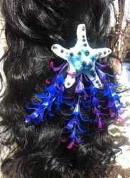 Silicone tri-colored mermaid hair clip by Coyote-Walker