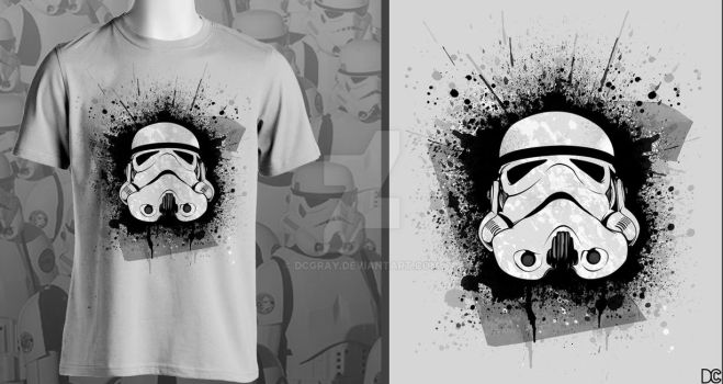 Stormtrooper Shirt Design by DCGray