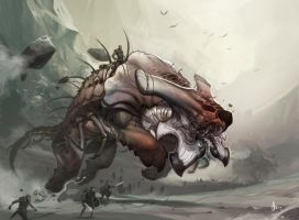 Frontline Warbeast by nJoo
