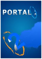 minimalist video game posters 3  -  Portal 2 by TheSamFiles