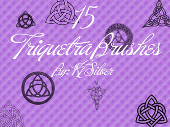 Triquetra Brushes for Gimp by KT-Silver