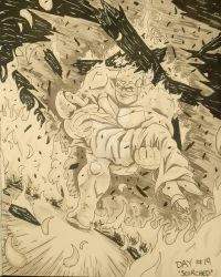 Inktober 2018 day 19 - 'scorched' by Silverback1