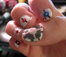 Portal 2 nails by OhSadface