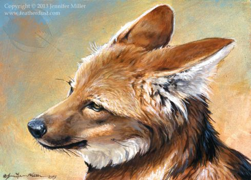 Maned Wolf Portrait by Nambroth