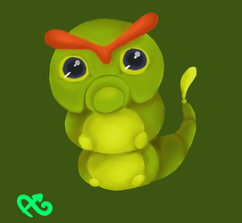 #010 - Caterpie by Boychic