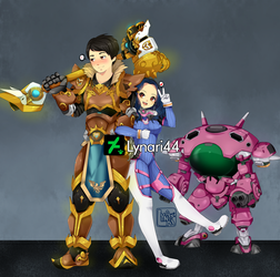 Commission: Couple on Overwatch by Lynari44