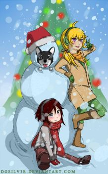 RWBY Patch Kids Happy Holidays by DGsilv3r