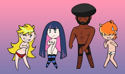 Panty Stocking GaterBelt Brief by humon