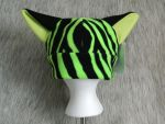 Green Stripe w/ green inner ears SOLD by WolfieWear