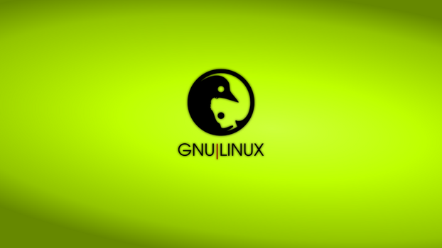 GNULinux YinYang Wallpaper | Lime by Dablim