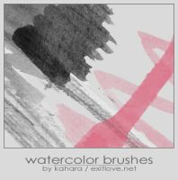 watercolor brushes by kahara