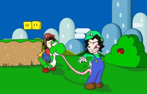 Game Grumps in Super Mario World by Fredcheeseburger