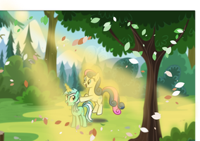 Lyra and Bon Bon spending time together by Superstar-Starly