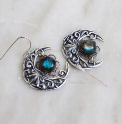 Celestial Labradorite Earrings by Aranwen