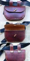Medieval Style Belt Pouch by RuehlLeatherWorks