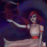 Commission - Blood Red Roses by Erydrin