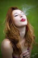 Kaja and the cigarette by stalae