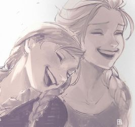 laughing together by A-KAchen