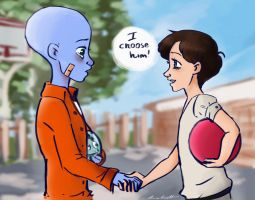Megamind and Roxanne by TOMEart