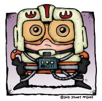 X-Wing Fighter Pilot by stuartmcghee