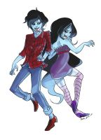 Marceline and Marshall Lee by WortCat