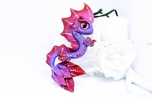 Purple and Red Sea Dragon Necklace by SophieXSmith