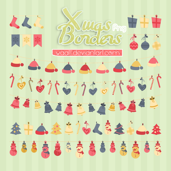 Xmas Borders -png- by Waatt