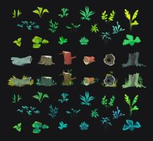 cute plant assortment by irismuddy