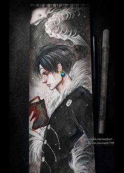 Inktoberday 11: Chrollo Lucifer by NanFe