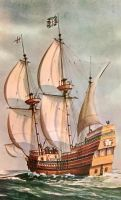Vintage New England - Mayflower II by Yesterdays-Paper