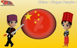 Chibi Jingpo People, China - Animondos by Dougieus