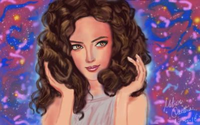 Girl With Curls + Timelapse by QueenMG