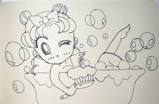 Usagi In Tub by DavisJes