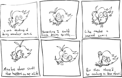 Thinkin' of a journal comic by AdequateJ