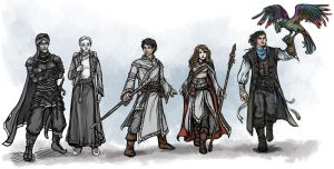 Characters of Aventuria by Neferu