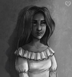 Grayscale Rita by Annorelka