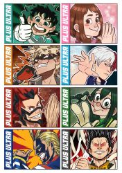 BNHA stickers 1st batch. by Blueberry-me