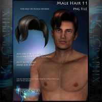 Male Hair 11 Painted Instant add on hair PNG stock by MakeMeMagical